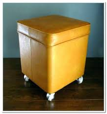 storage ottoman with casters wonderful ottoman with wheels storage stool with wheels storage