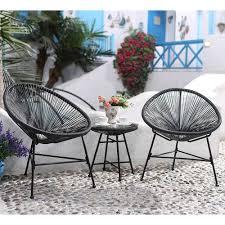 fauteuil en corde fauteuils x2 et table basse en cordes de résine vert