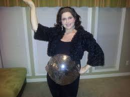 disco ball for halloween i found mirrored fabric and covered my