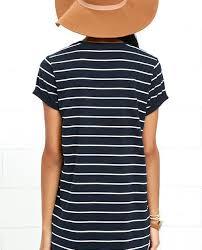 blue dress striped dress shirt dress price 38 00