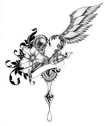 cool sketches of hearts with wings awesome drawings of hearts with