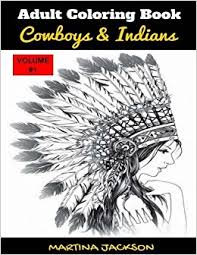 amazon coloring book cowboys u0026 indians 40 detailed