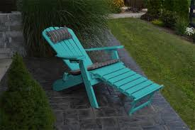 Adirondack Chair With Ottoman A L Poly Folding And Reclining Adirondack Chair With Pullout Ottoman