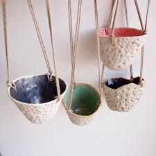 Hanging Ceramic Planter by Hanging Ceramic Circle Planter Ceramic Planter Pottery Planter