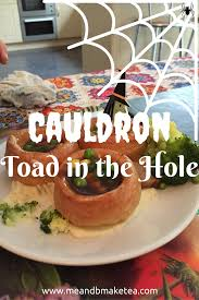 cauldron toad in the hole for halloween me and b make tea
