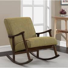 Wood Rocking Chair Mid Century Green Wooden Rocking Chair Free Shipping Today