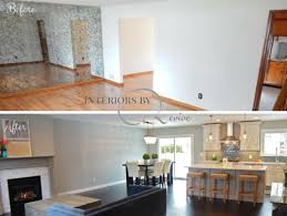 open concept before and after kitchen