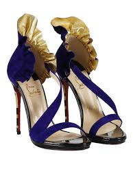 colankle ruched suede sandals by christian louboutin sandals ikrix