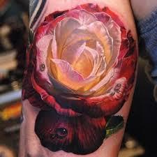 large black roses tattoo on back by fpista tattooimages biz