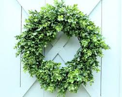 artificial boxwood wreath faux boxwood wreath etsy
