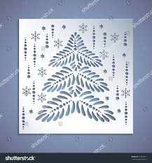 square panel tree cut out stock vector 514829017