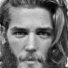 amazing long wavy hair and beard with images of mens long