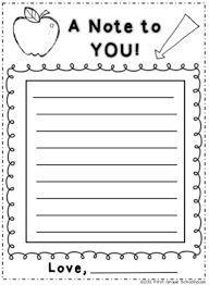 back to night note from parents to students by first grade