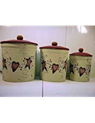 primitive kitchen canister sets amazon com tin cookie jars food storage home kitchen