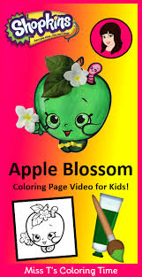shopkins coloring pages videos shopkins apple blossom coloring page video for kids do your kids