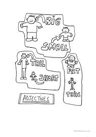 9 free esl short adjectives worksheets