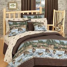 Wolf Bedding Set Shop Blue Ridge Trading River Fishing Bedding Sets The Home
