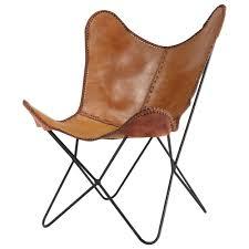 fauteuil de la maison fauteuil en cuir camel santiago maisons du monde