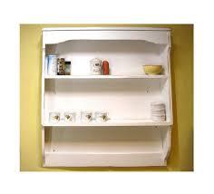 wooden irish shabby chic painted pine wall dresser cabinet shelf