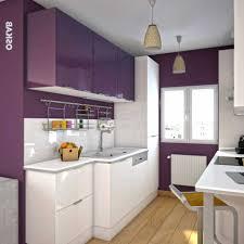 cuisine en violet impressionnant cuisine équipée violet avec beau photographie de