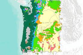Oregon vegetaion images Potential natural vegetation original kuchler types to mc1 png