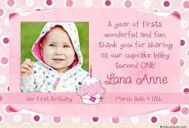 birthday thank you card 1st birthday cupcake thank you photo card design