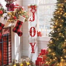 lighted christmas decorations indoor improvements joy wooden sign lighted christmas decor 60 liked