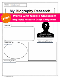 free biography graphic organizer 4th grade google classroom biography research graphic organizer k 5 computer lab