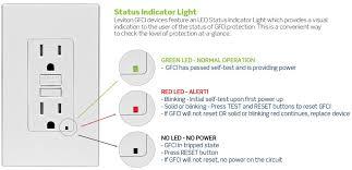 facts about your gfci status indicator light u003e safety u003e leviton blog