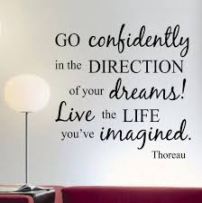 go confidently thoreau decal vinyl lettering wall quotes