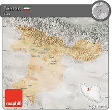 tehran satellite map free satellite map of tehran lighten semi desaturated