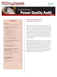 power quality audit electrical substation audit