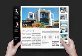 Real Estate Brochure Design Templates by Real Estate Agency Brochure Template For Photoshop U0026 Illustrator