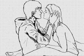 the defining kiss sketch by jaredtherocker on deviantart