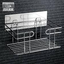 merry metal bathroom shelf rack wall mounted type stainless steel