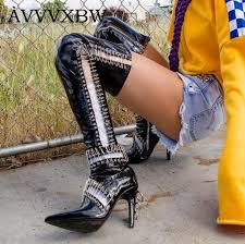 women s street motorcycle boots avvvxbw cool motorcycle boots over the knee boots 2017 winter high
