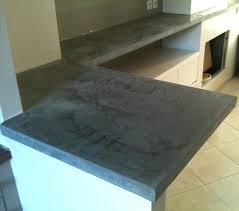 beton ciré pour plan de travail cuisine enduit pour plan de travail cuisine