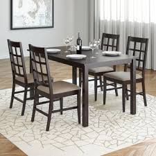 Atwoods Outdoor Furniture - corliving atwood 5 piece dining set with grey stone leatherette