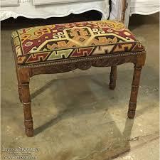 19th century french needlepoint vanity bench inessa stewart u0027s