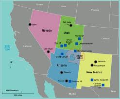 map usa southwest southwest united states of america travel guide at wikivoyage
