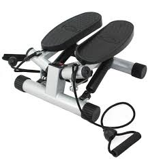 sunny health and fitness twisting stair stepper with bands