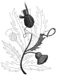 free embroidery designs scotch thistle design