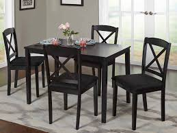 Microfiber Dining Room Chairs Kitchen Cabinets Dining Room Table W Microfiber Padded Chairs