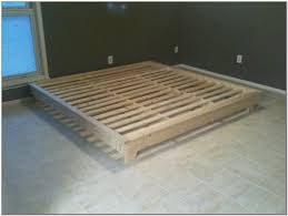 king size platform bed plans beds home design ideas