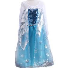 Queen Elsa Halloween Costume Aliexpress Buy Elsa Dress Girls Halloween Costumes Kids