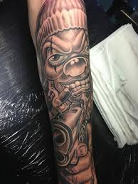 thug clown tattoo google search savioso pinterest clown