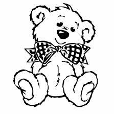 teddy bear cut out template teddy bear with bow tie acrylic cut