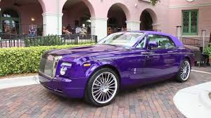 roll royce fenice rare 1 of 1 purple rolls royce phantom drophead coupe white