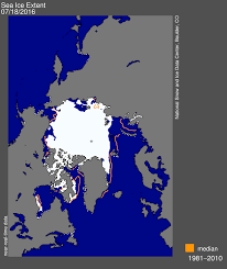 Square Miles To Square Feet July 2016 Arctic Sea Ice News And Analysis
