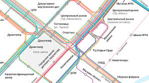 Map Route Maker by Kostanay City Bus Route Map On Behance